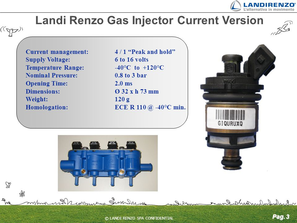 Landi Renzo Gas Injector Current Version