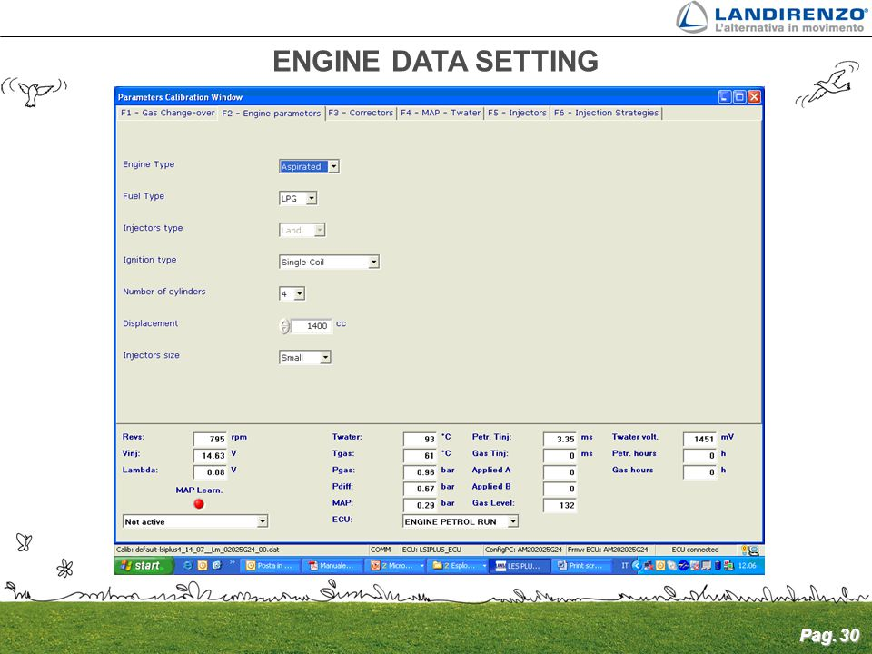 ENGINE DATA SETTING