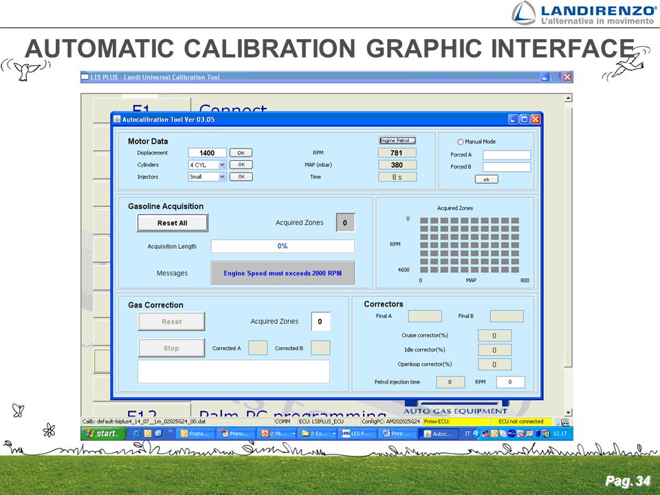 AUTOMATIC CALIBRATION GRAPHIC INTERFACE