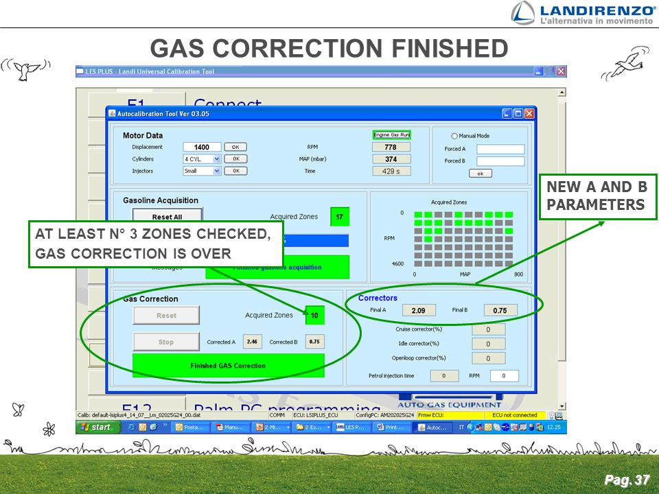 GAS CORRECTION FINISHED