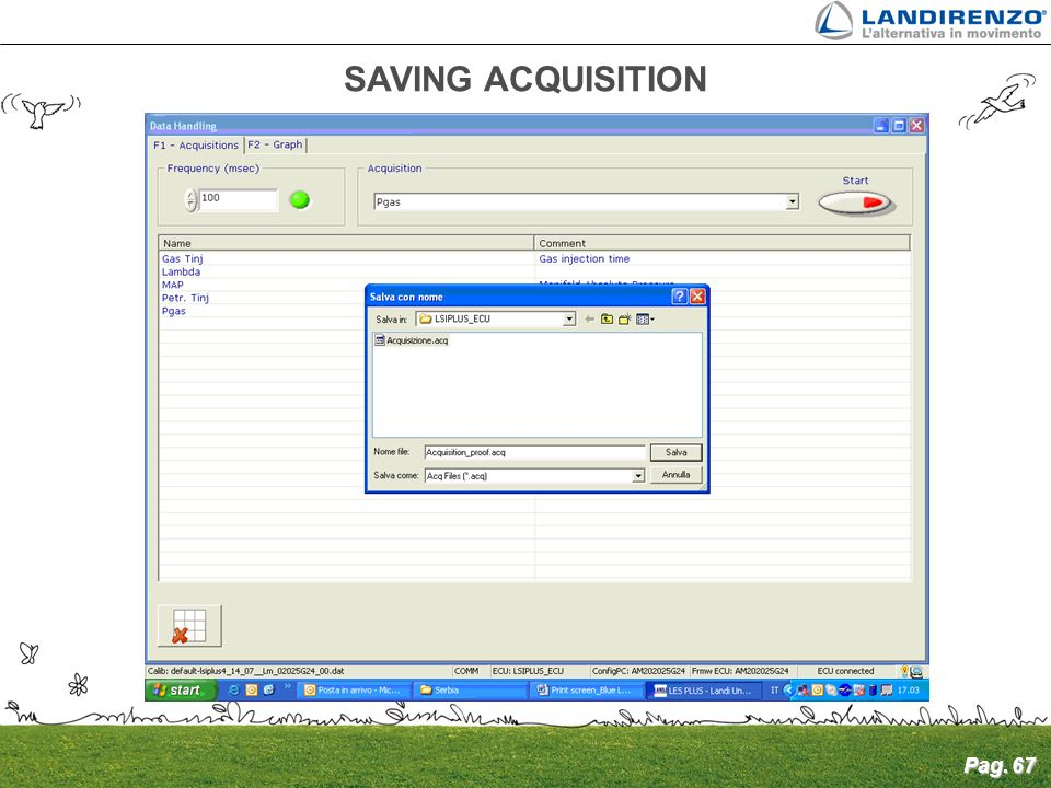 SAVING ACQUISITION