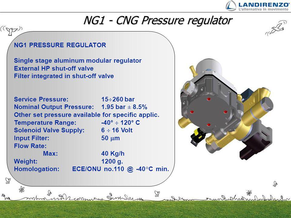 NG1 - CNG Pressure regulator