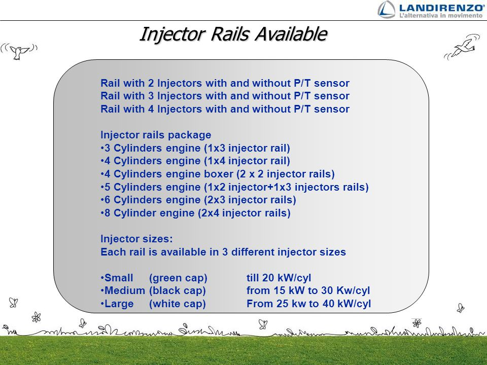 Injector Rails Available