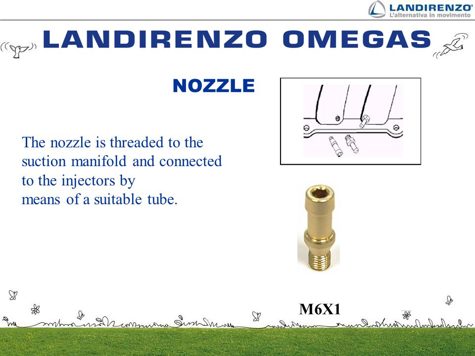 NOZZLE The nozzle is threaded to the suction manifold and connected to the injectors by. means of a suitable tube.