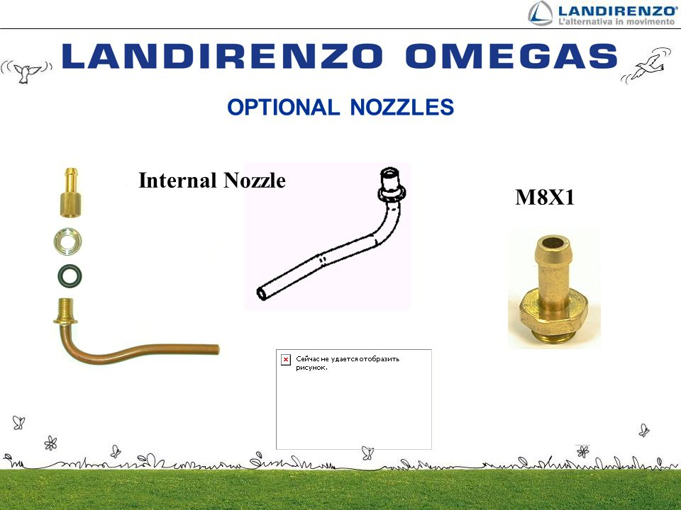 OPTIONAL NOZZLES Internal Nozzle M8X1
