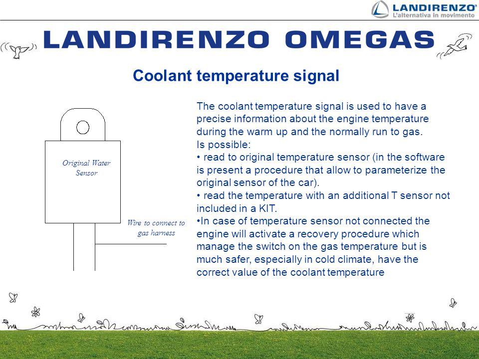 Coolant temperature signal