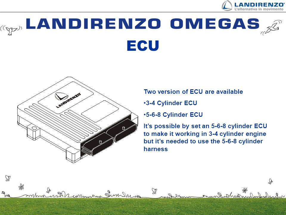 ECU Two version of ECU are available 3-4 Cylinder ECU