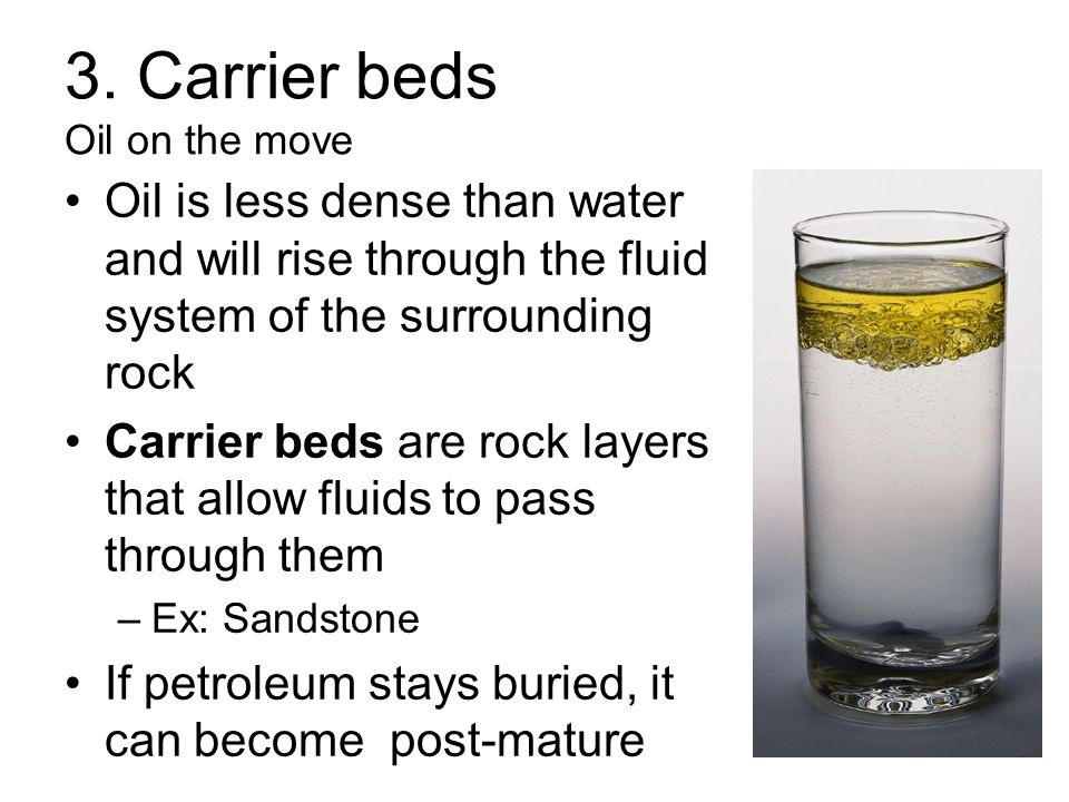 3. Carrier beds Oil on the move
