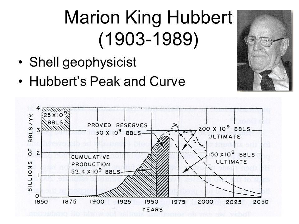 Marion King Hubbert (1903-1989)
