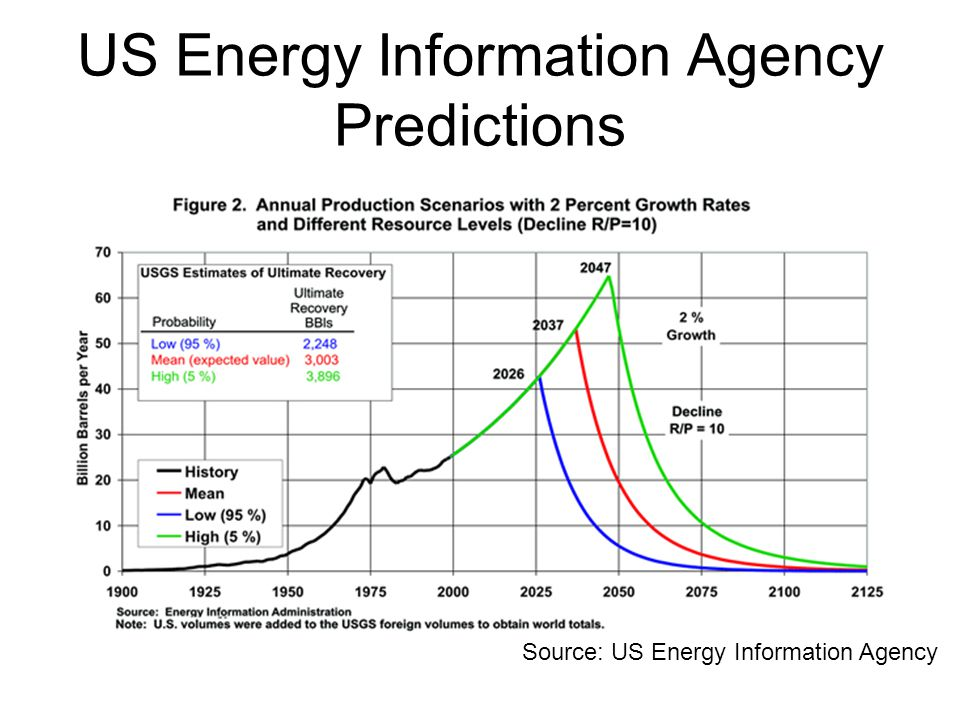 US Energy Information Agency Predictions