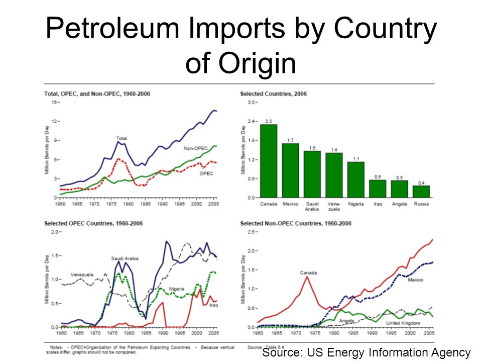 Petroleum Imports by Country of Origin
