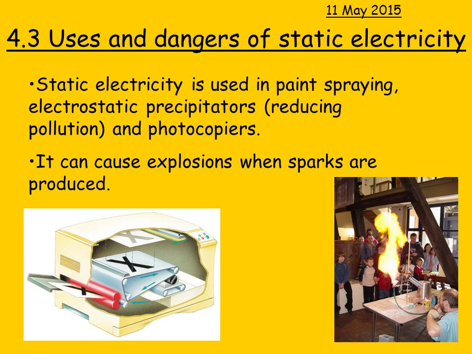 4.3 Uses and dangers of static electricity