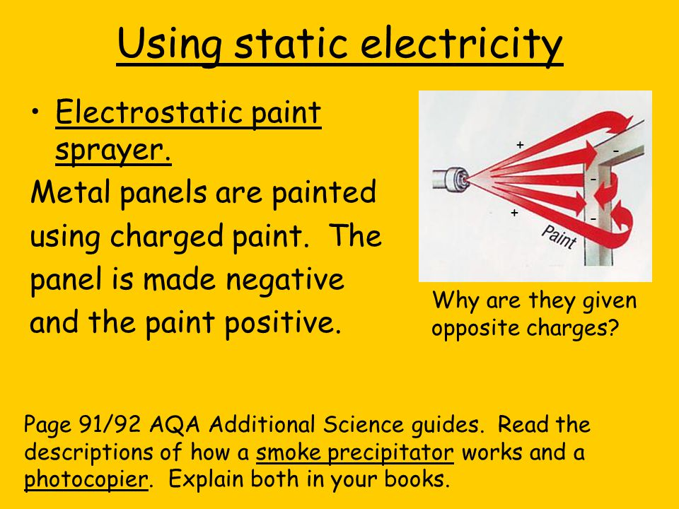 Using static electricity