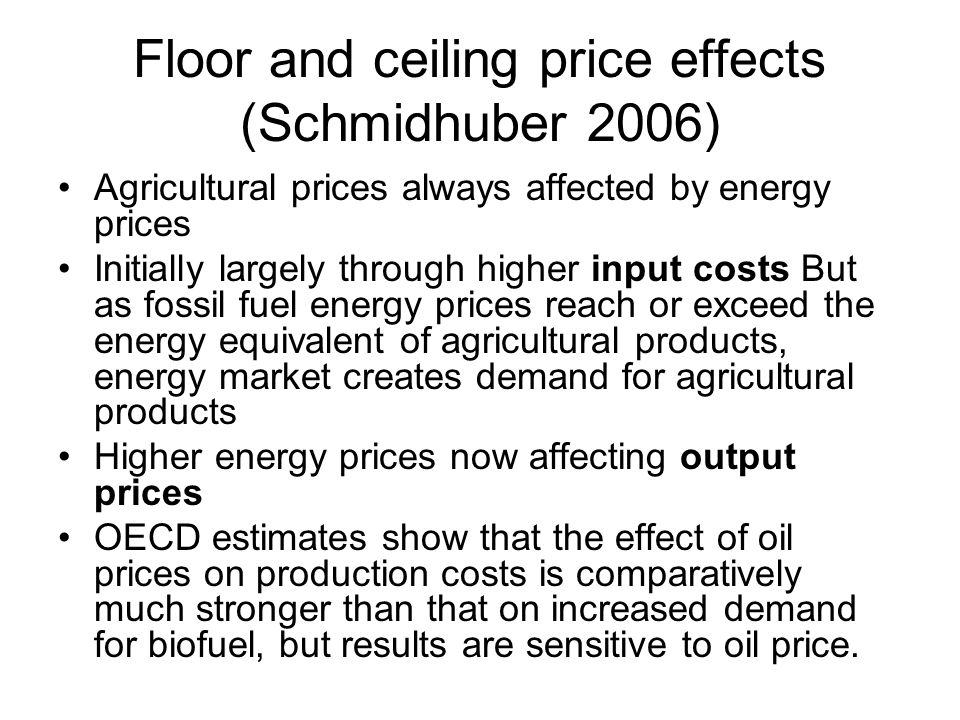 Floor and ceiling price effects (Schmidhuber 2006)