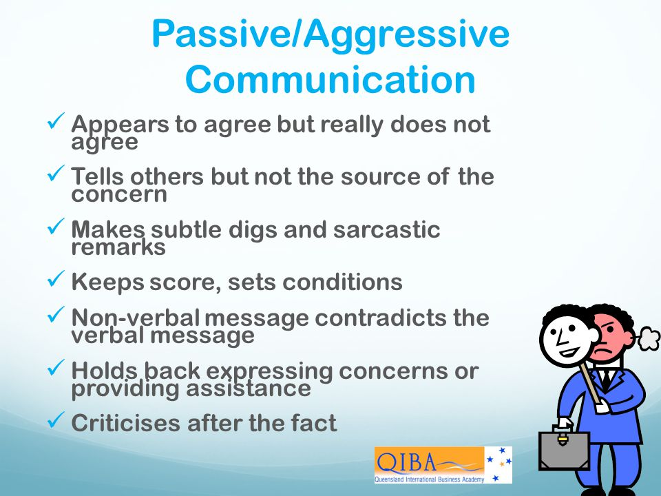 Passive/Aggressive Communication