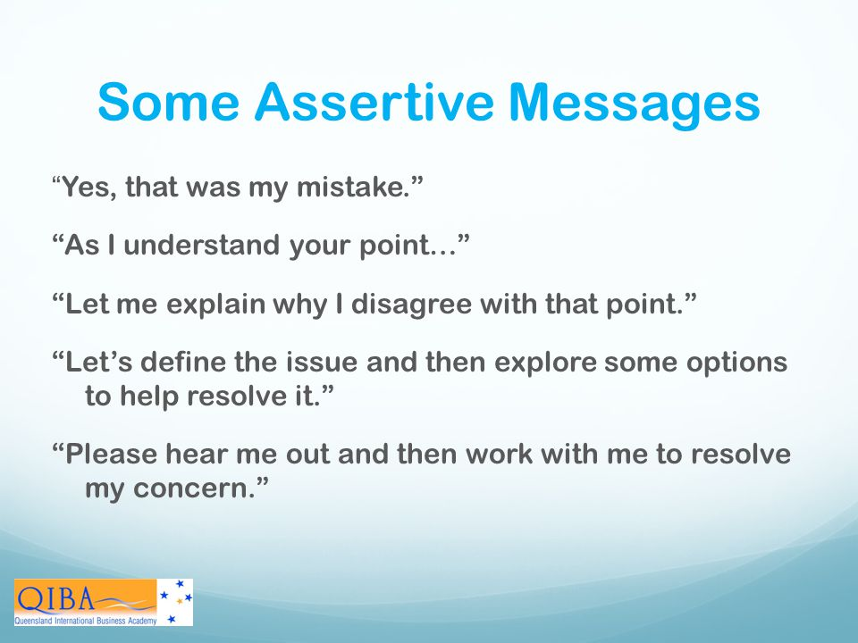 Some Assertive Messages
