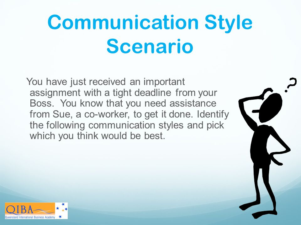 Communication Style Scenario