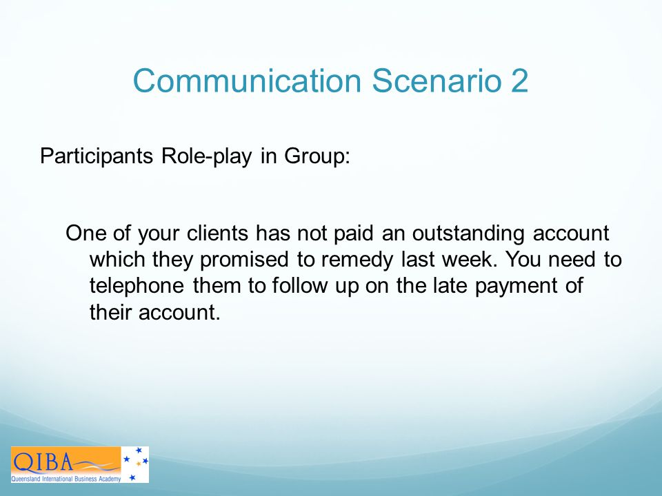 Communication Scenario 2
