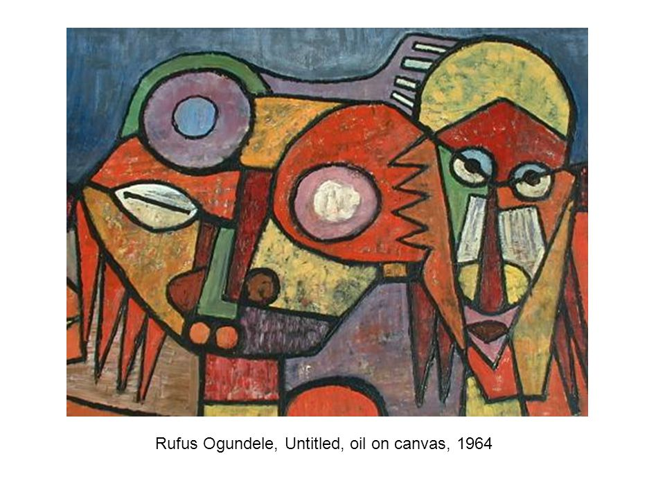 Rufus Ogundele, Untitled, oil on canvas, 1964
