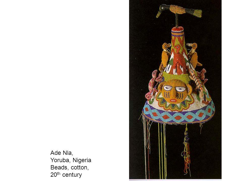 Ade Nla, Yoruba, Nigeria Beads, cotton, 20th century