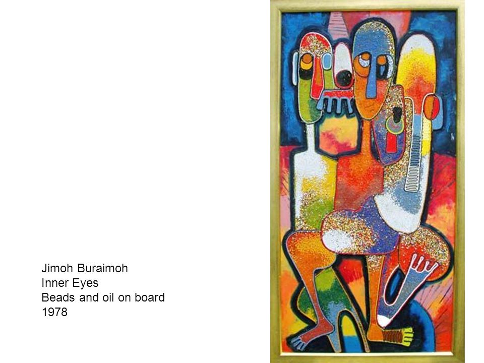 Jimoh Buraimoh Inner Eyes Beads and oil on board 1978