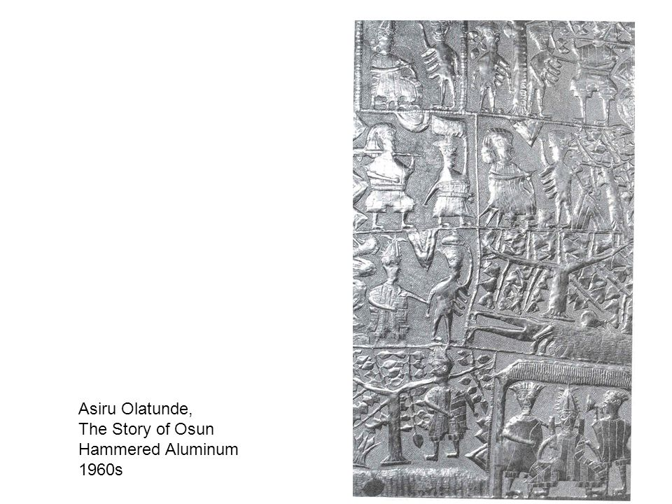 Asiru Olatunde, The Story of Osun Hammered Aluminum 1960s