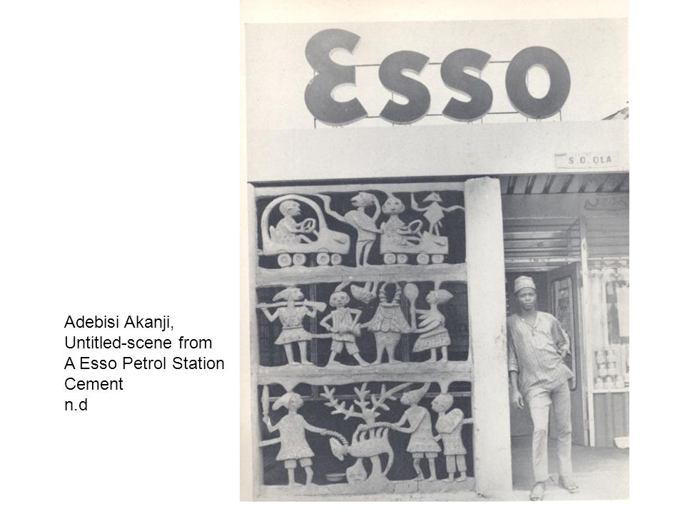 Adebisi Akanji, Untitled-scene from A Esso Petrol Station Cement n.d