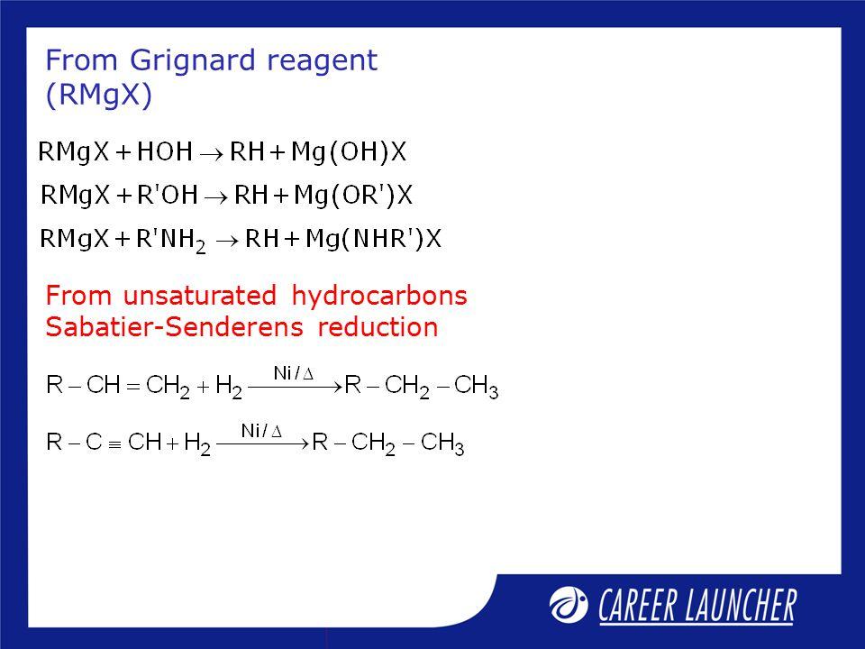 From Grignard reagent (RMgX)