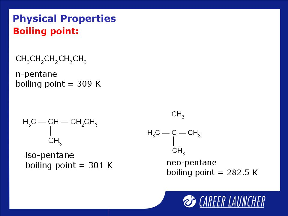 Physical Properties Boiling point: