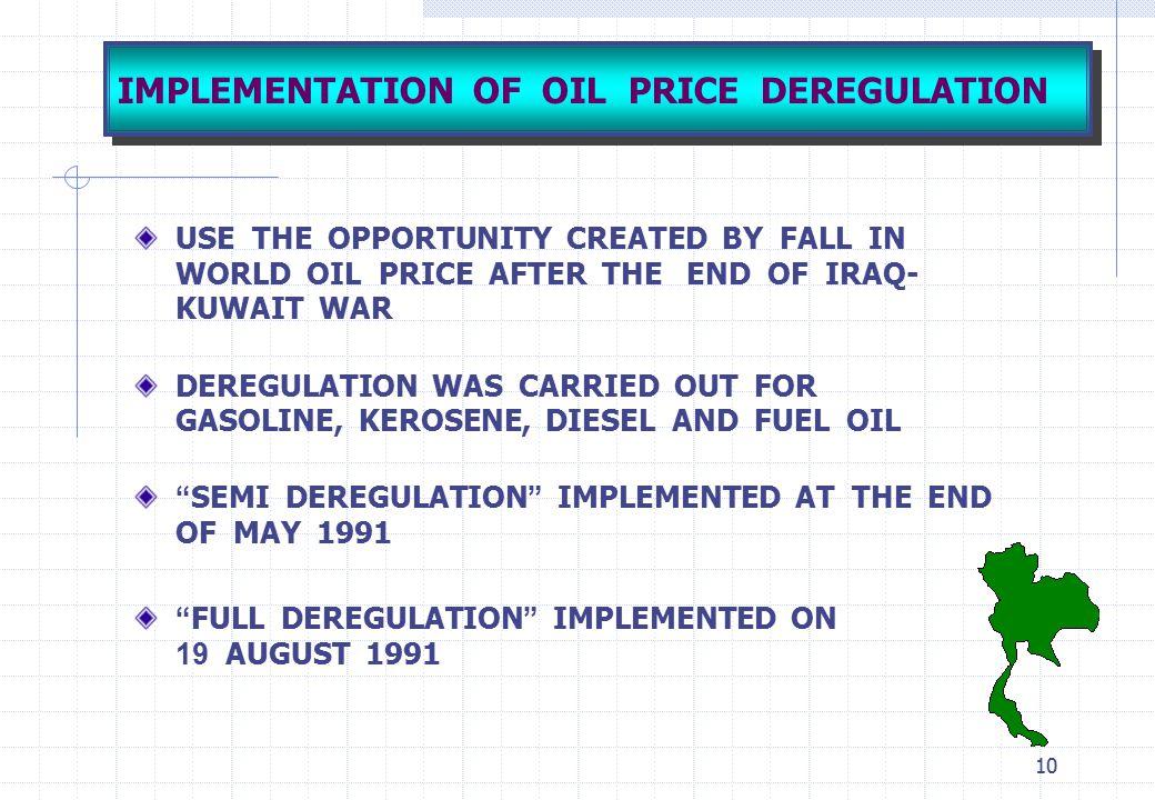 IMPLEMENTATION OF OIL PRICE DEREGULATION