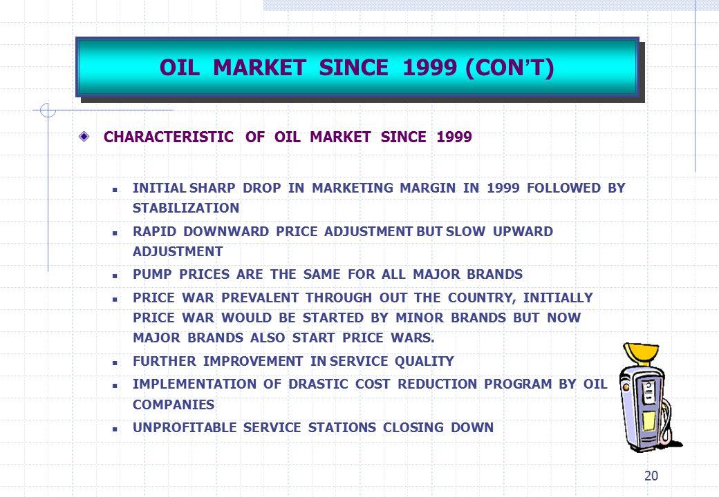 OIL MARKET SINCE 1999 (CON'T)
