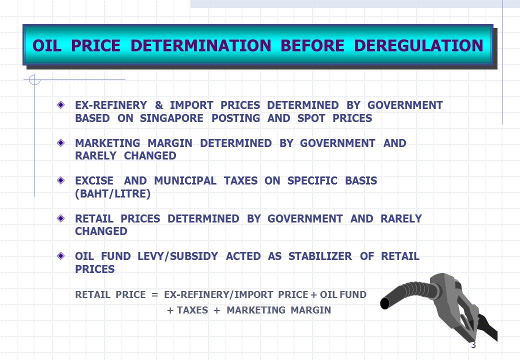 OIL PRICE DETERMINATION BEFORE DEREGULATION