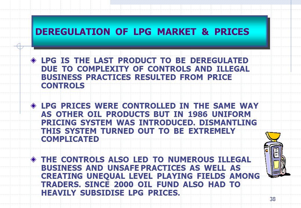 DEREGULATION OF LPG MARKET & PRICES