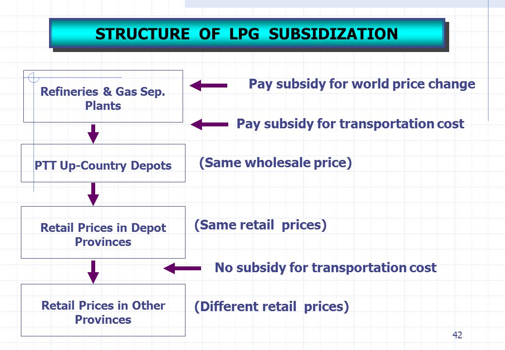 STRUCTURE OF LPG SUBSIDIZATION