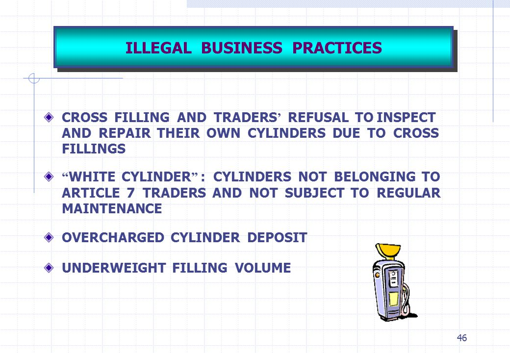 ILLEGAL BUSINESS PRACTICES