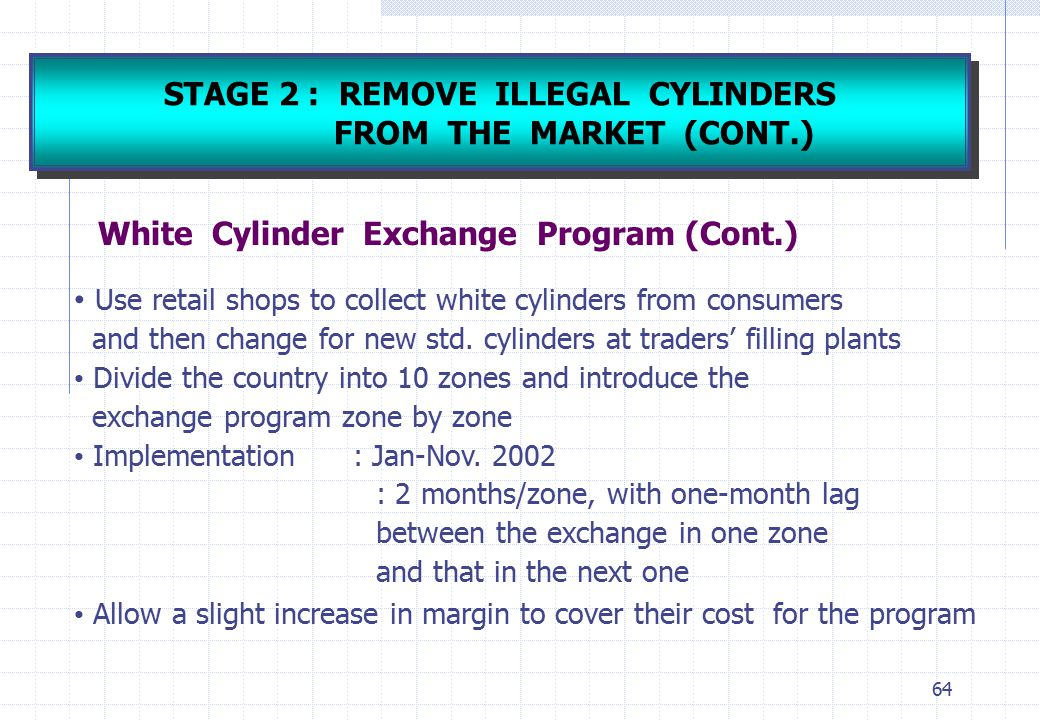 STAGE 2 : REMOVE ILLEGAL CYLINDERS