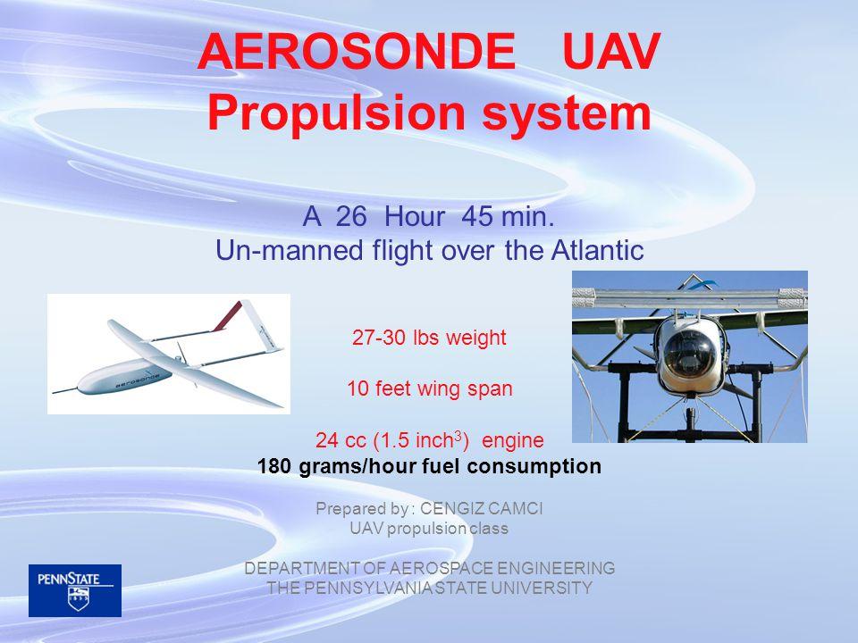 AEROSONDE UAV Propulsion system