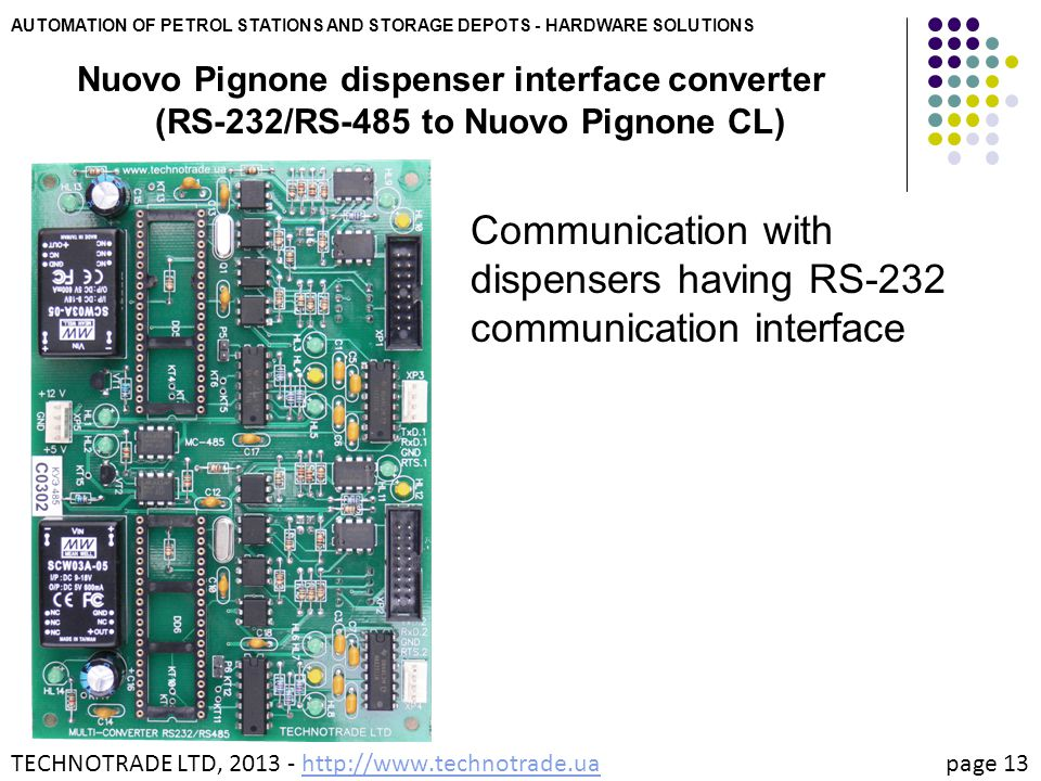 Communication with dispensers having RS-232 communication interface