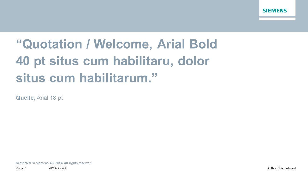 Quotation / Welcome, Arial Bold 40 pt situs cum habilitaru, dolor situs cum habilitarum.