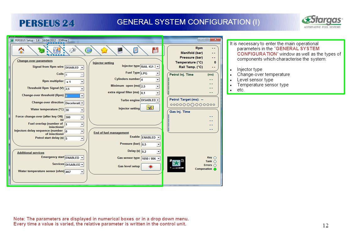 GENERAL SYSTEM CONFIGURATION (I)