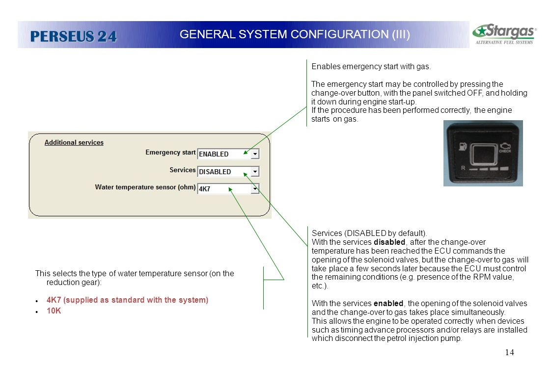 GENERAL SYSTEM CONFIGURATION (III)