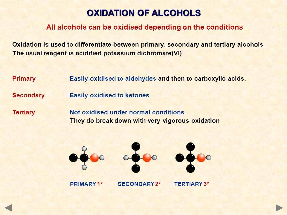 All alcohols can be oxidised depending on the conditions