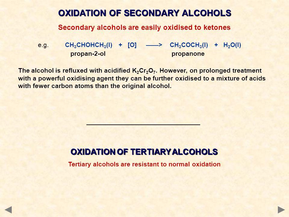 OXIDATION OF SECONDARY ALCOHOLS