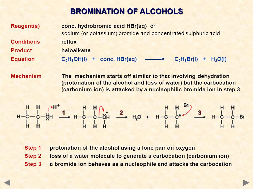 BROMINATION OF ALCOHOLS