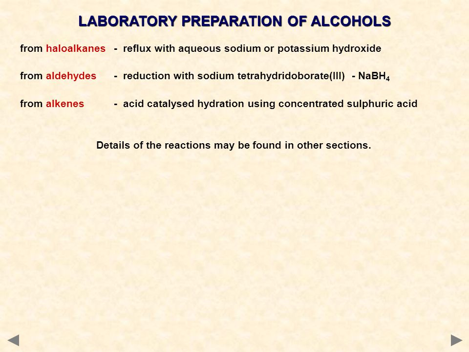 LABORATORY PREPARATION OF ALCOHOLS