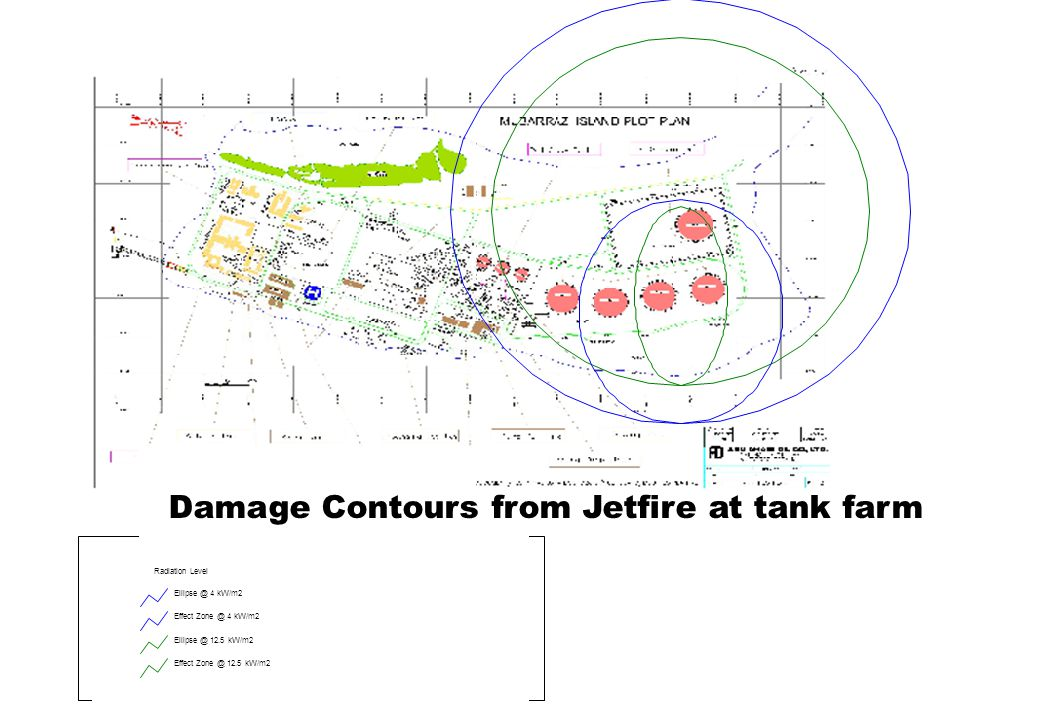 Damage Contours from Jetfire at tank farm