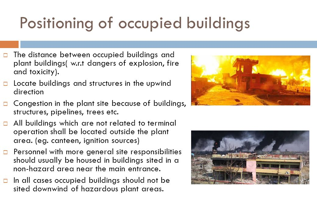 Positioning of occupied buildings