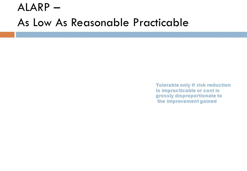ALARP – As Low As Reasonable Practicable