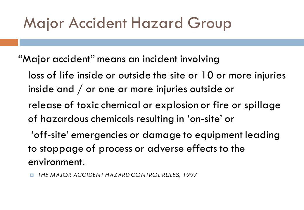 Major Accident Hazard Group