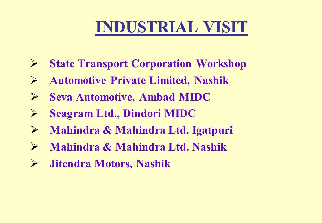INDUSTRIAL VISIT State Transport Corporation Workshop